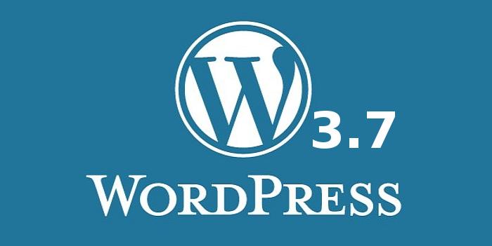 WordPress 3.7 ist da  - die Neuerungen auf einen Blick: