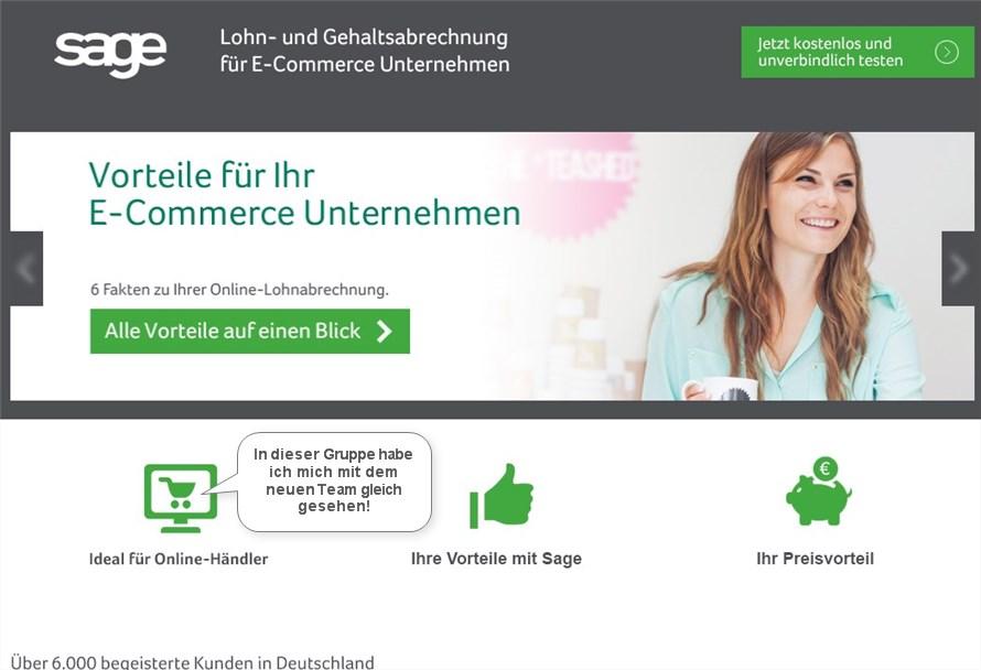 Sage Online-Lohnabrechnung Software für Unternehmen