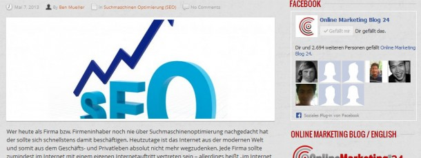 unser eigener Online Marketing Blog in deutsch