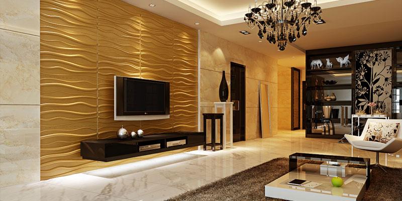 design & flair an der wand - wanddekorationen mit wow-effekt, Wohnzimmer