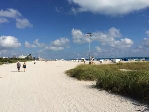 unendliche Weiten am Strand von Miami Beach