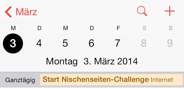Der Zeitplan steht: Die Nischenseiten-Challenge beginnt am 03.03.2014