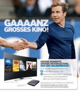 Samsung UHD TV-Aktion